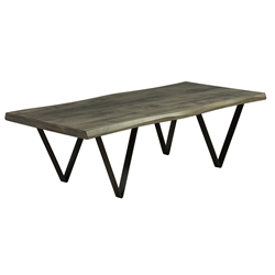 Harper Modern Wave Edge Nantucket Cocktail Table by Saloom