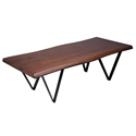 Harper Modern Wave Edge Walnut Cocktail Table by Saloom