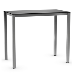 Harrison Modern Counter Table - Black Glass + Magnetite by Amisco