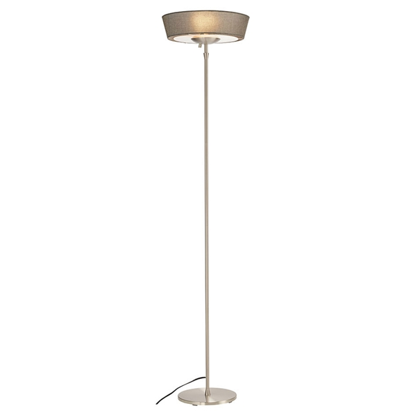 Hartley Gray Shade Modern Floor Lamp