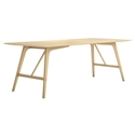 "Modloft Haru 87"" Natural Oak Wood Modern Dining Table"