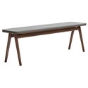 Modloft Haru Modern Walnut + Andorra Wool Bench