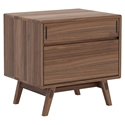 Modloft Haru Modern Nightstand in Walnut Wood