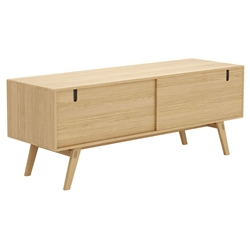 Modloft Haru Natural Oak Wood Modern Media Cabinet