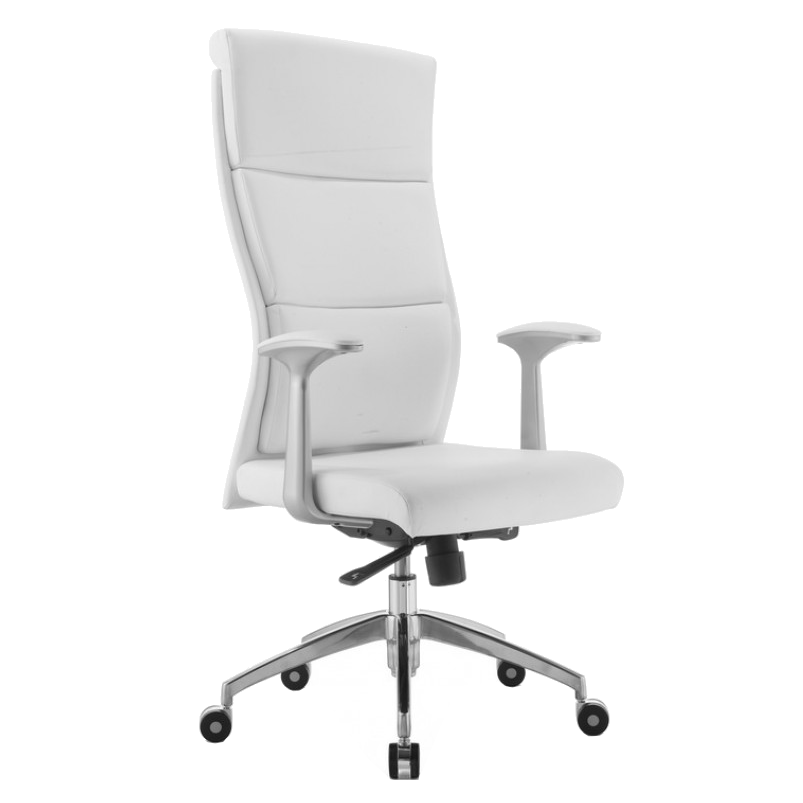 Harvard white modern executive office chair eurway for Modern white office chair