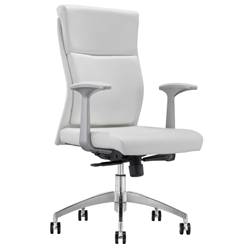 Harvard White Modern Office Chair