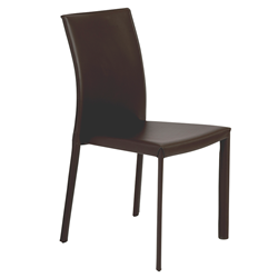 Heather Brown Modern Stacking Chair