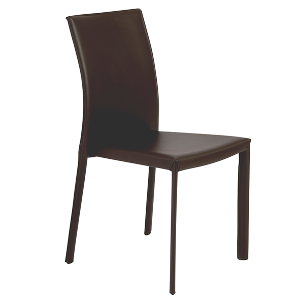 Hasina Brown Modern Stacking Chair