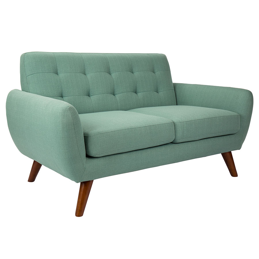 Modern Loveseats Hatcher Teal Loveseat Eurway