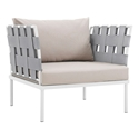 Havasu White, Gray + Beige Modern Outdoor Chair
