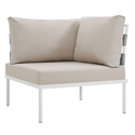 Havasu White + Beige Modern Corner Outdoor Chair
