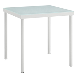 Havasu White Modern Outdoor End Table