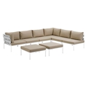 Havasu White, Gray + Beige Modern Outdoor Sectional