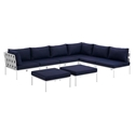 Havasu White, Gray + Navy Modern Outdoor Sectional