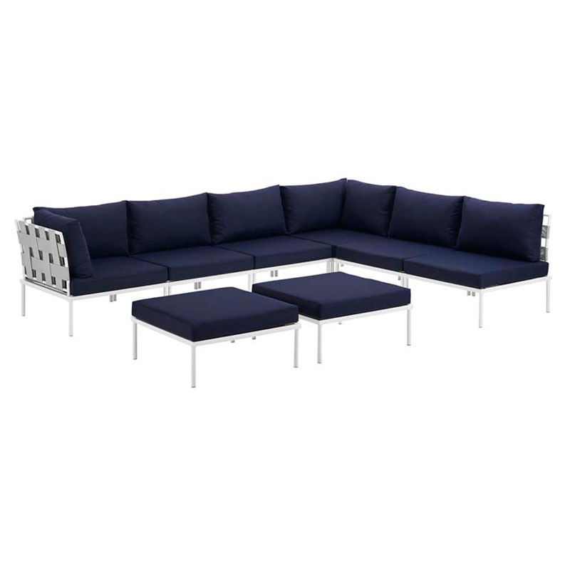 Exceptionnel Call To Order · Havasu White, Gray + Navy Modern Outdoor Sectional
