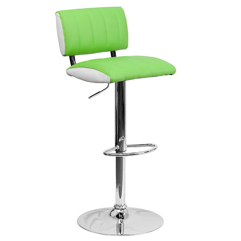 Hawthorne Modern Adjustable Barstool in Green