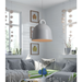 Haywood White Contemporary Hanging Lamp