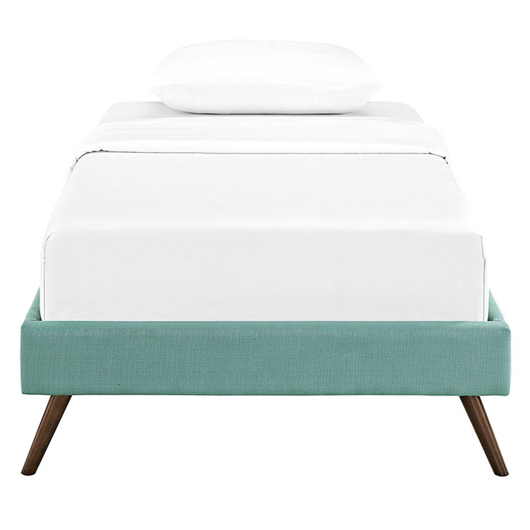 Hearten Laguna Fabric Modern Kid's Platform Bed - Front View
