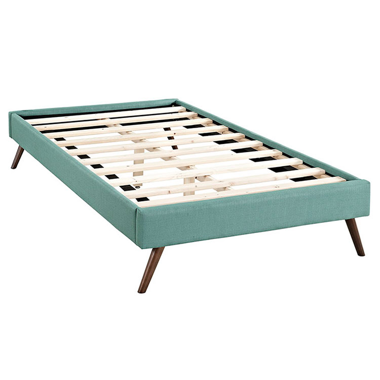 Hearten Laguna Fabric Modern Kid's Platform Bed - Slats