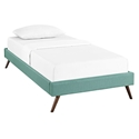 Hearten Laguna Fabric Modern Kid's Platform Bed