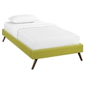 Hearten Wheatgrass Fabric Modern Kid's Platform Bed