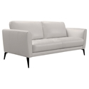 Heather Modern Gray Leather Sofa