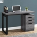 Helio Contemporary Gray + Black Computer Desk