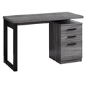 Helio Modern Gray + Black Computer Desk