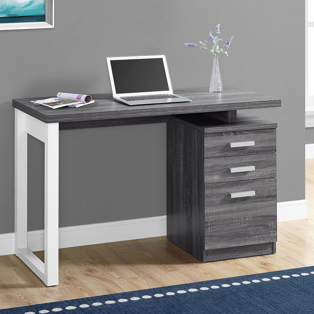 Modern Desks Helio Gray White Desk Eurway Furniture