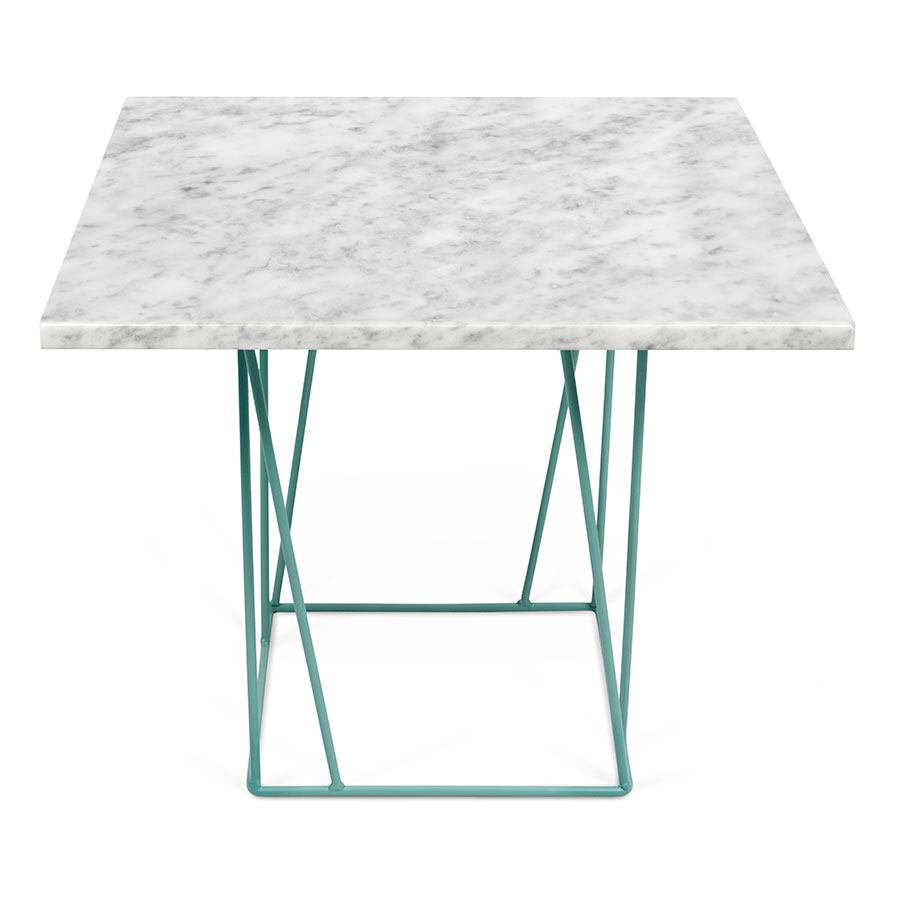 helix white  green modern end table  eurway furniture -  end table · helix white marble top  green metal base modern side table