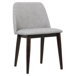 Helsinki Modern Gray Fabric Dining Chair
