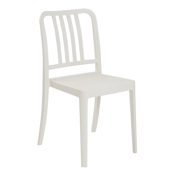 Hemmingway Modern White Stacking Chair