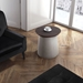 Henda Round Modern End Table