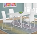 Herron Modern White Dining Chairs + Needham Table