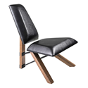 Hessian Black Modern Lounge + Accent Chair