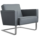 High Park Contemporary Lounge Chair in Menswear Griffin