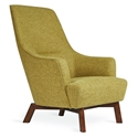 Gus* Modern Hilary Arm Chair in Green Bayview Dandelion Fabric Upholstery