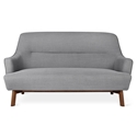Gus* Modern Hilary Loft Sofa in Berkeley Metro Fabric Upholstery With Splayed Solid Wood Legs