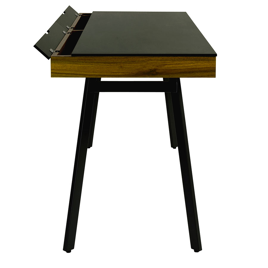 Modern Desks Hillard Black Desk Eurway Furniture