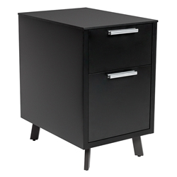 Hugo Modern Black 2-Drawer File Cabinet