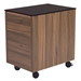 Hillard Modern File Cabinet with Black Top - Back View