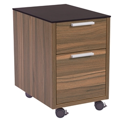 Hillard Modern File Cabinet with Black Top - Casters