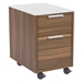 Hillard Modern File Cabinet with White Top - Caster