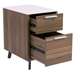 Hillard Modern File Cabinet with White Top - Open