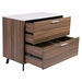 Hillard Modern Lateral File Cabinet with White Top - Open