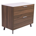Hart Modern Lateral File Cabinet with White Top