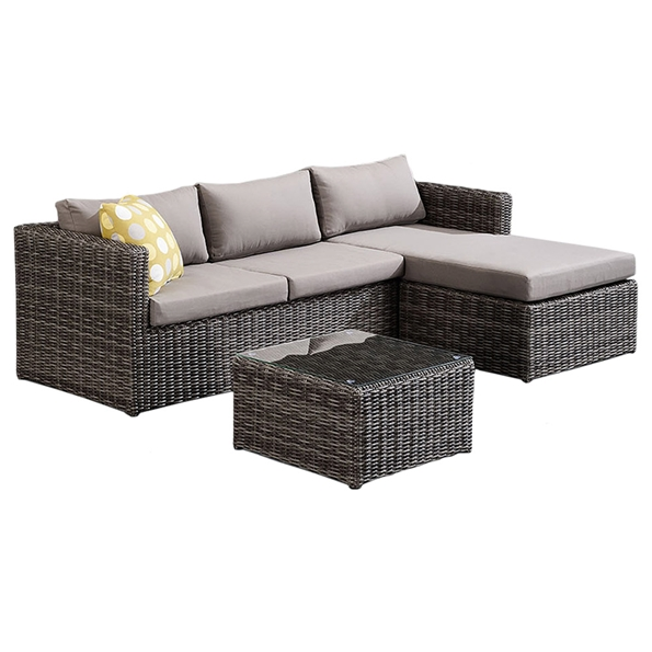 Hilton Outdoor Sectional + Coffee Table