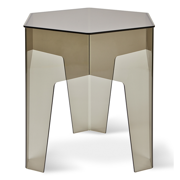 Gus* Modern Hive Smoked Acrylic End Table