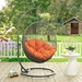 Hive Outdoor Hanging Chair - Gray + Orange