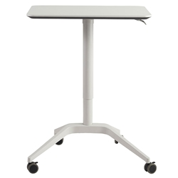 Herning White Adjustable Height Modern Laptop Desk